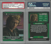 2015 Topps, Star Wars Chrome Perspectives, #2J Anakin Skywalker, PSA 10 Gem