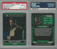 2015 Topps, Star Wars Chrome Perspectives, #3J Obi-Wan Kenobi, PSA 10 Gem