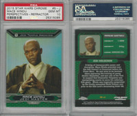 2015 Topps, Star Wars Chrome Perspectives, #5J Mace Windu, PSA 10 Gem