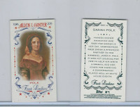 2015 Topps Allen Ginter, First Ladies, #First-10 Sarah Polk