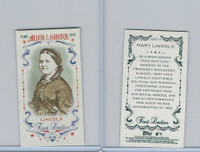 2015 Topps Allen Ginter, First Ladies, #First-15 Mary Lincoln