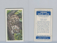 B0-0 Brooke Bond Tea, Asian Wild Life, 1962, #12 Clouded Leopard