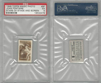 1949 Topps, Magic Photos, Stars of Stage & Screen, F #8 J Fantaine, PSA 5