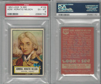 1952 Topps, Look 'N See, #109 Admiral Horatio Nelson, PSA 6 EXMT