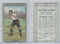 G12-13 Gallaher, Ass. Football Club Colors, 1910, #3 C Milnes, Rotherham