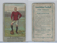 G12-13 Gallaher, Ass. Football Club Colors, 1910, #5 McCartney, Northhampton