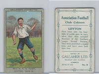 G12-13 Gallaher, Ass. Football Club Colors, 1910, #8 K Hunt, Leyton