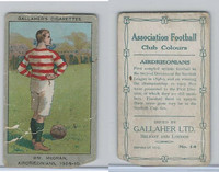 G12-13 Gallaher, Ass. Football Club Colors, 1910, #14 McGran, Airdrieonians