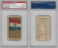 N10 Allen & Ginter, Flags of all Nations, 1890, Gr. Luxemburg, PSA 2 MK Good