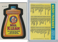 1979 Topps, Wacky Packs, #2 Mrs. Klean