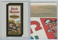 1979 Topps, Wacky Packs, #13 Ditch Masters Cheap Cigars
