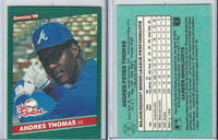1986 Donruss Rookies Baseball, #10 Andres Thomas, Braves