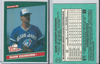 1986 Donruss Rookies Baseball, #13 Mark Eichhorn, Blue Jays