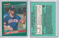 1986 Donruss Rookies Baseball, #15 Cory Snyder, Indians