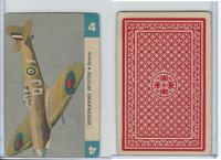 R112-Z Whitman, Zoom Airplane Card, 1941, #4 Supermarine Spitfire, Britain