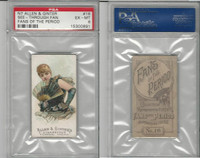 N7 Allen & Ginter, Fans of the Period, 1889, #16, PSA 6 EXMT