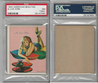 R59 Gum Inc, American Beauties, 1944, A Live Wire, PSA 7 MC NM