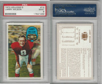 1970 Kelloggs Football, #14 Larry Wilson, St. Louis Cardinals, PSA 9 Mint