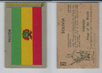 1950 Topps, Parade Flags Of The World, #2 Bolivia