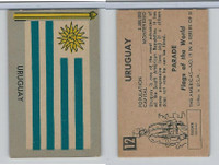 1950 Topps, Parade Flags Of The World, #12 Uruguay