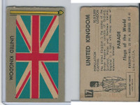 1950 Topps, Parade Flags Of The World, #17 United Kingdom