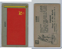 1950 Topps, Parade Flags Of The World, #18 USSR, Russia