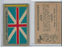 1950 Topps, Parade Flags Of The World, #27 Pre-Revolutionary Jack