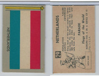 1950 Topps, Parade Flags Of The World, #29 Netherlands