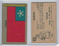 1950 Topps, Parade Flags Of The World, #30 Burma