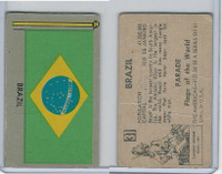 1950 Topps, Parade Flags Of The World, #31 Brazil