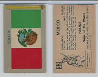 1950 Topps, Parade Flags Of The World, #32 Mexico