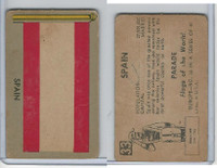 1950 Topps, Parade Flags Of The World, #33 Spain