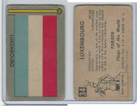 1950 Topps, Parade Flags Of The World, #34 Luxembourg