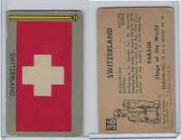1950 Topps, Parade Flags Of The World, #36 Switzerland