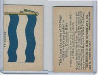 R51-2 Wilbur-Suchard Chocolate, Flags, Ser. 36, 1930's, Argentina