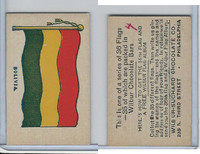 R51-2 Wilbur-Suchard Chocolate, Flags, Ser. 36, 1930's, Bolivia