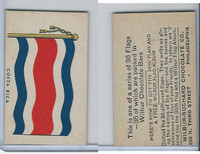 R51-2 Wilbur-Suchard Chocolate, Flags, Ser. 36, 1930's, Costa Rica