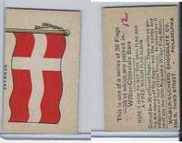 R51-2 Wilbur-Suchard Chocolate, Flags, Ser. 36, 1930's, Denmark