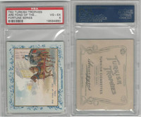 T62 Turkish Trophies, Fortune Series, 1910, Are Fond Of, PSA 4 VGEX