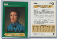 1991 Horse Star, Jockey Star, #120 William Lewis Jr.