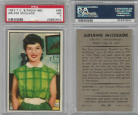 1953 Bowman, TV & Radio Stars NBC, #68 Arlene McQuade, PSA 7 NM