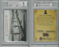 2015 Historic Autographs, Civil War, #15 Army Corp Engineers, BVG 9 Mint