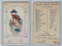 N140 Duke, Yacht Club Colors, 1890, Eastern Yacht Club, Helena Dacre