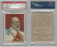 T68 ATC, Heroes/Men of History, 1912, Edward VII, of England, PSA 4 VGEX