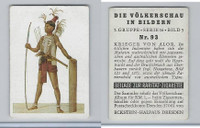 E10-11 Eckstein Halpaus, People Of World, 1932, #93 Warriors of Alor