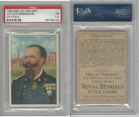 T68 ATC, Heroes/Men of History, 1912, Emmanuel, Victor of Italy, PSA 1.5
