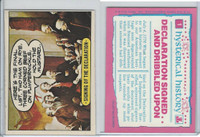 1975 Topps, Hysterical History, #1 Signing of the Declaration