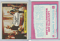 1975 Topps, Hysterical History, #12 Washington Meets Lafayette