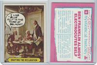 1975 Topps, Hysterical History, #18 Drafting the Declaration