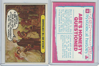 1975 Topps, Hysterical History, #19 Lincoln and the Contraband